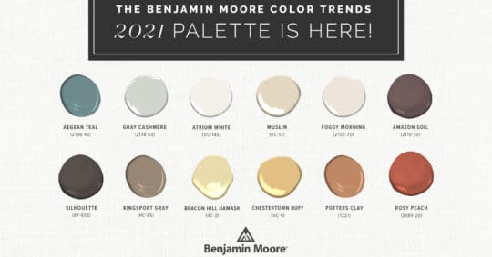 The Benjamin Moore Color Trends 2021 Palette is Here!