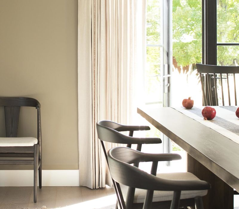 Dinging Room featuring Northampton Putty by Benjamin Moore - Janovic
