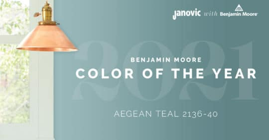 Benjamin Moore Color of the Year 2021: Aegean Teal 2136-40